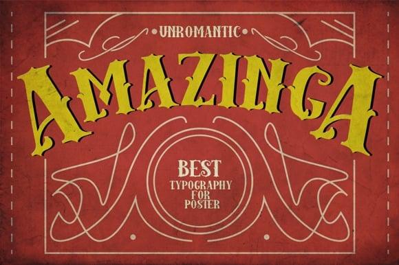 Download Amazinga font (typeface)