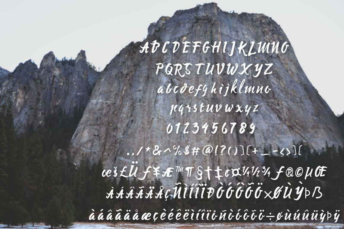 Download Mysera Typeface font (typeface)