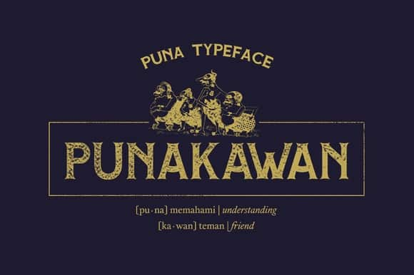 Download Puna font (typeface)