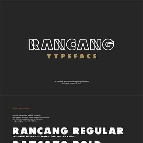 Download Rancang font (typeface)