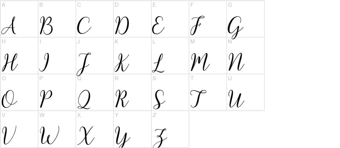 Download Kissita Script font (typeface)
