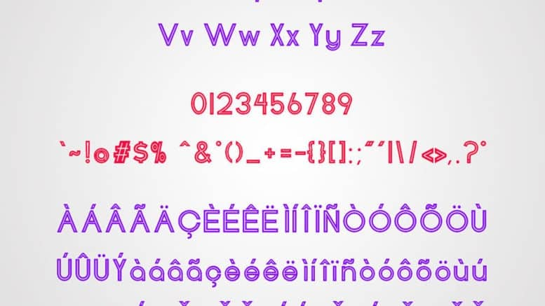 Download Henerale Outline font (typeface)