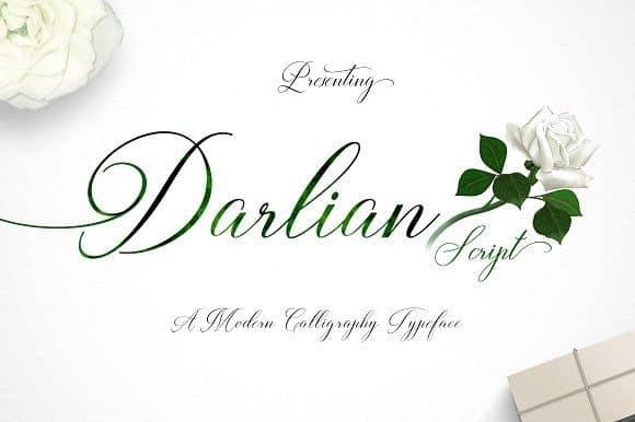 Download Darlian Script font (typeface)