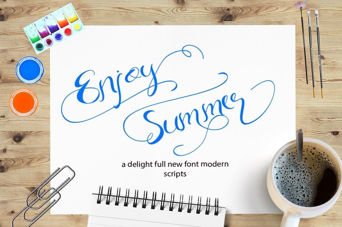 Download Enjoy Summer font (typeface)