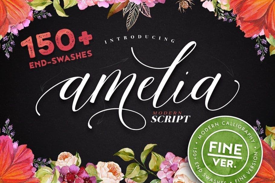 Download Amelia Script Fine version font (typeface)