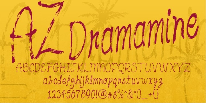 Download AZ Dramamine font (typeface)
