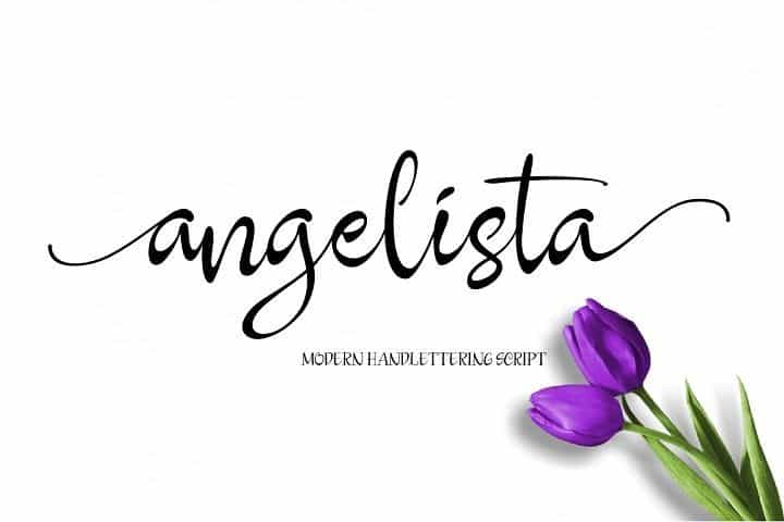 Download Angelista font (typeface)