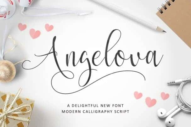 Download Angelova Script font (typeface)