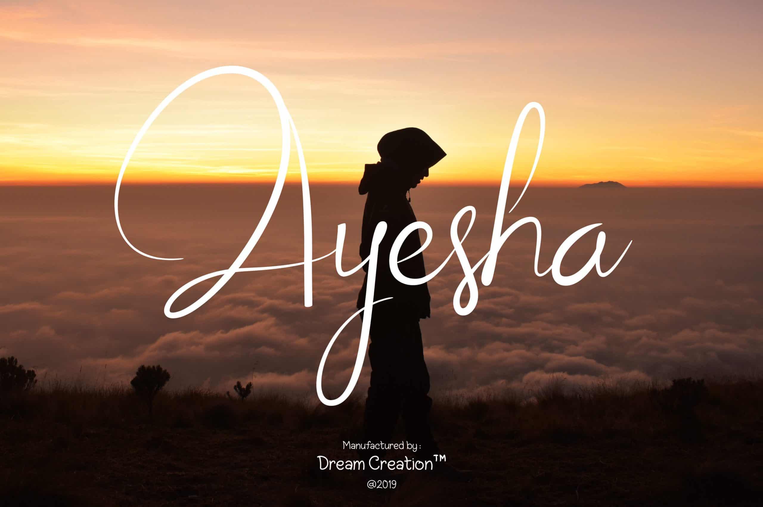 Download Aysheea font (typeface)