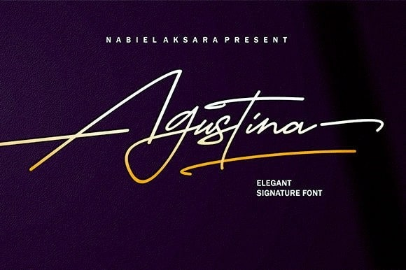 Download Agustina font (typeface)