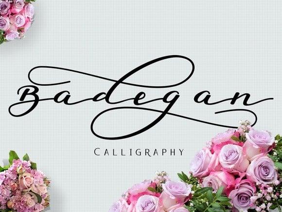 Download Badegan font (typeface)