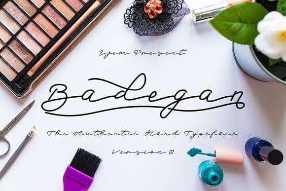 Download Badegan Script font (typeface)