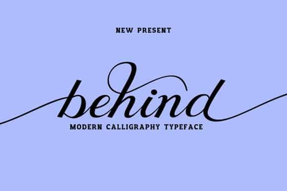 Download Behind font (typeface)