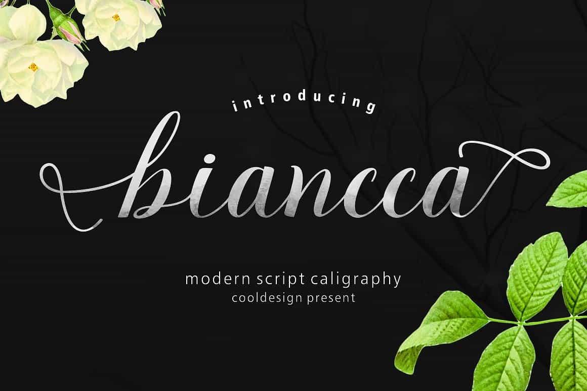 Download Biancca script font (typeface)