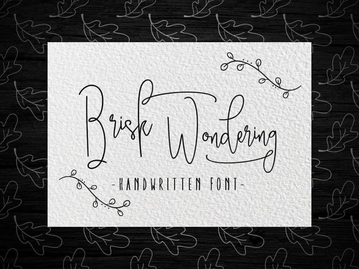 Download Brisk wondering font (typeface)