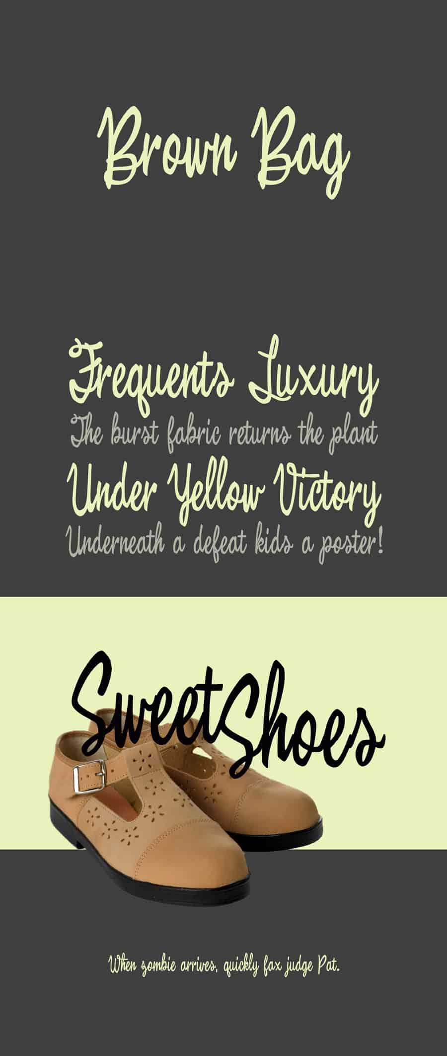Download Brown Bag font (typeface)