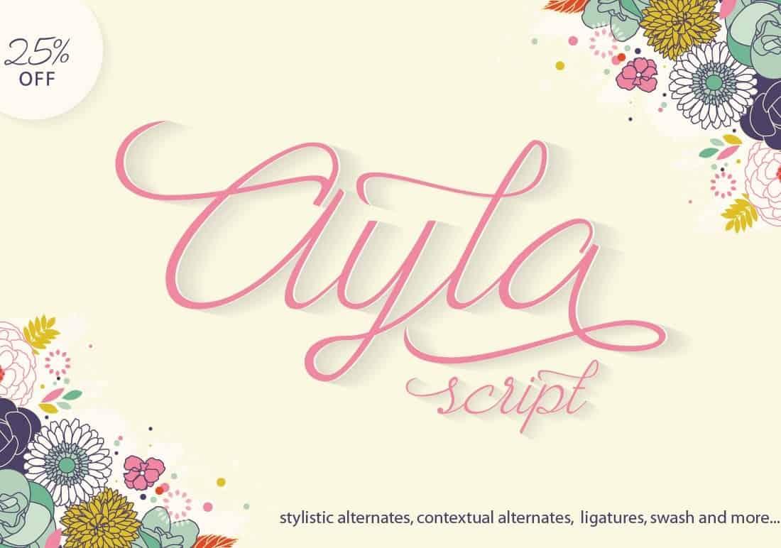 Download Ayla Script font (typeface)