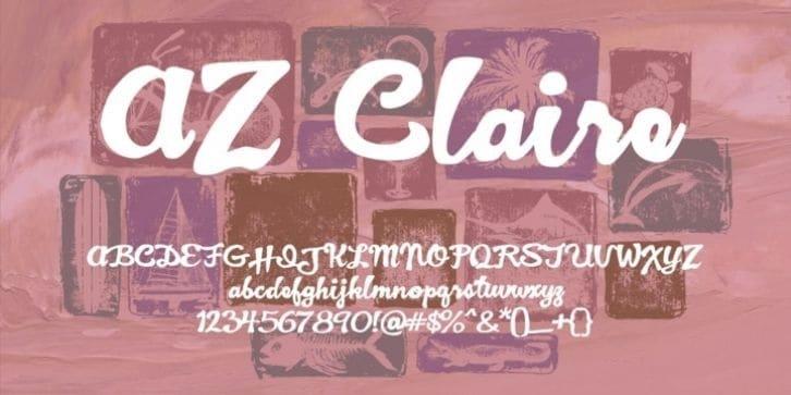 Download AZ Claire font (typeface)