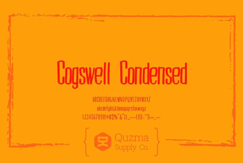 Download CogswellCondensed font (typeface)