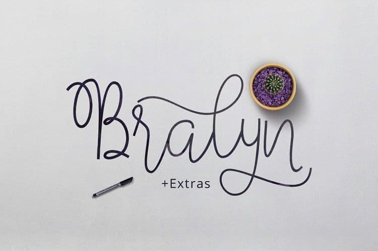 Download Bralyn font (typeface)