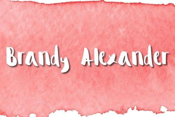 Download Brandy Alexander font (typeface)