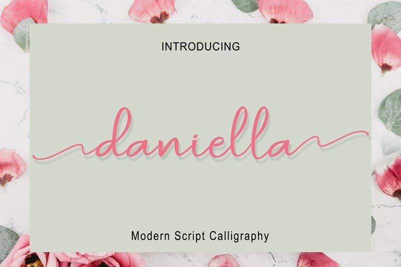 Download Daniela Script font (typeface)