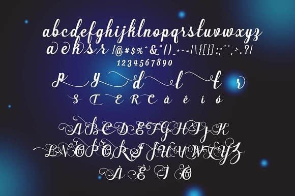 Download Allea Script font (typeface)