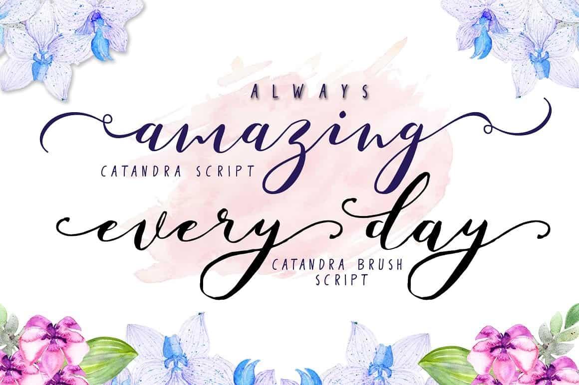 Download Catandra Script font (typeface)