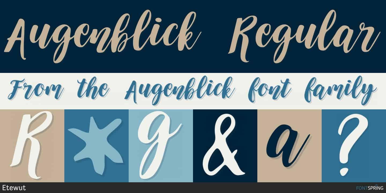 Download Augenblick font (typeface)