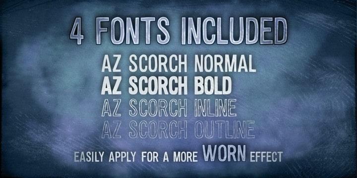 Download AZ Scorch font (typeface)