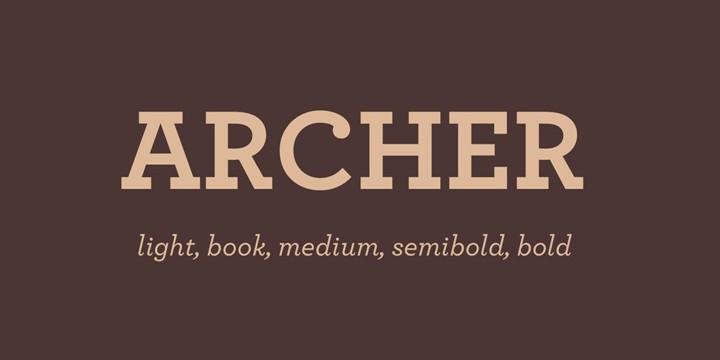 Download Archer font (typeface)