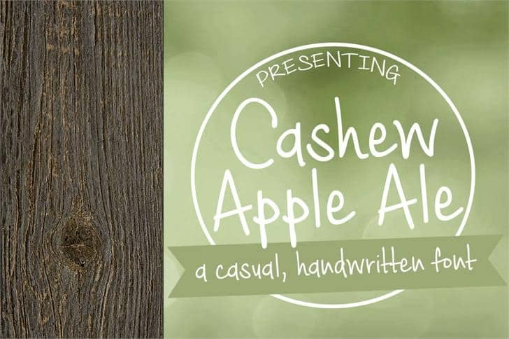 Download Cashew Apple Ale font (typeface)