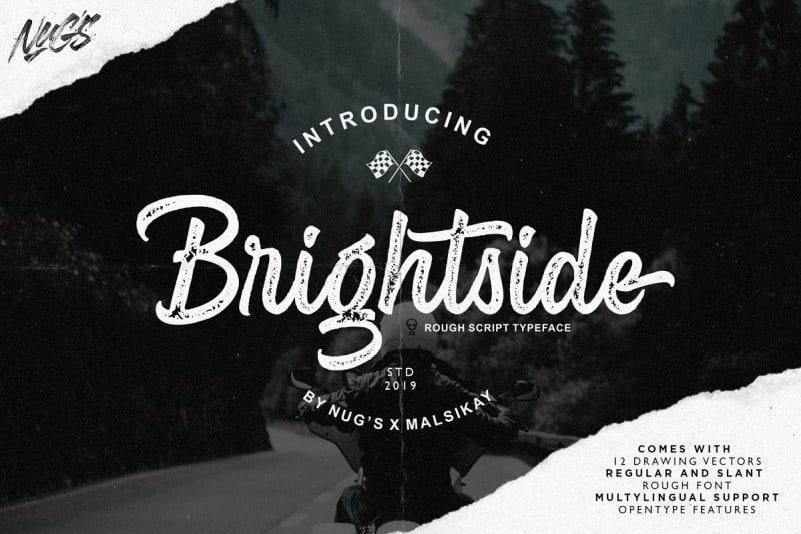 Download Brightshine Script font (typeface)