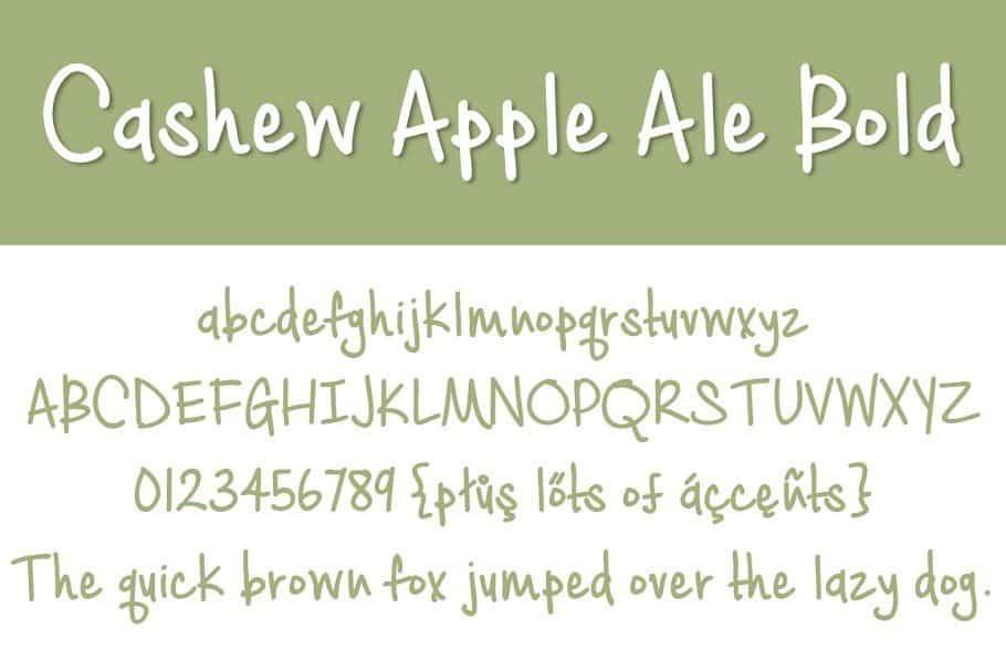 Download Cashew Apple Ale font (typeface)