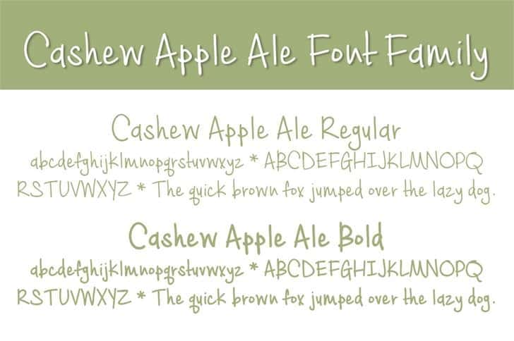 Download Cashew Apple Ale Bold font (typeface)
