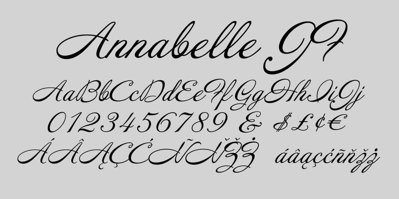 Download Arnabelle Script font (typeface)