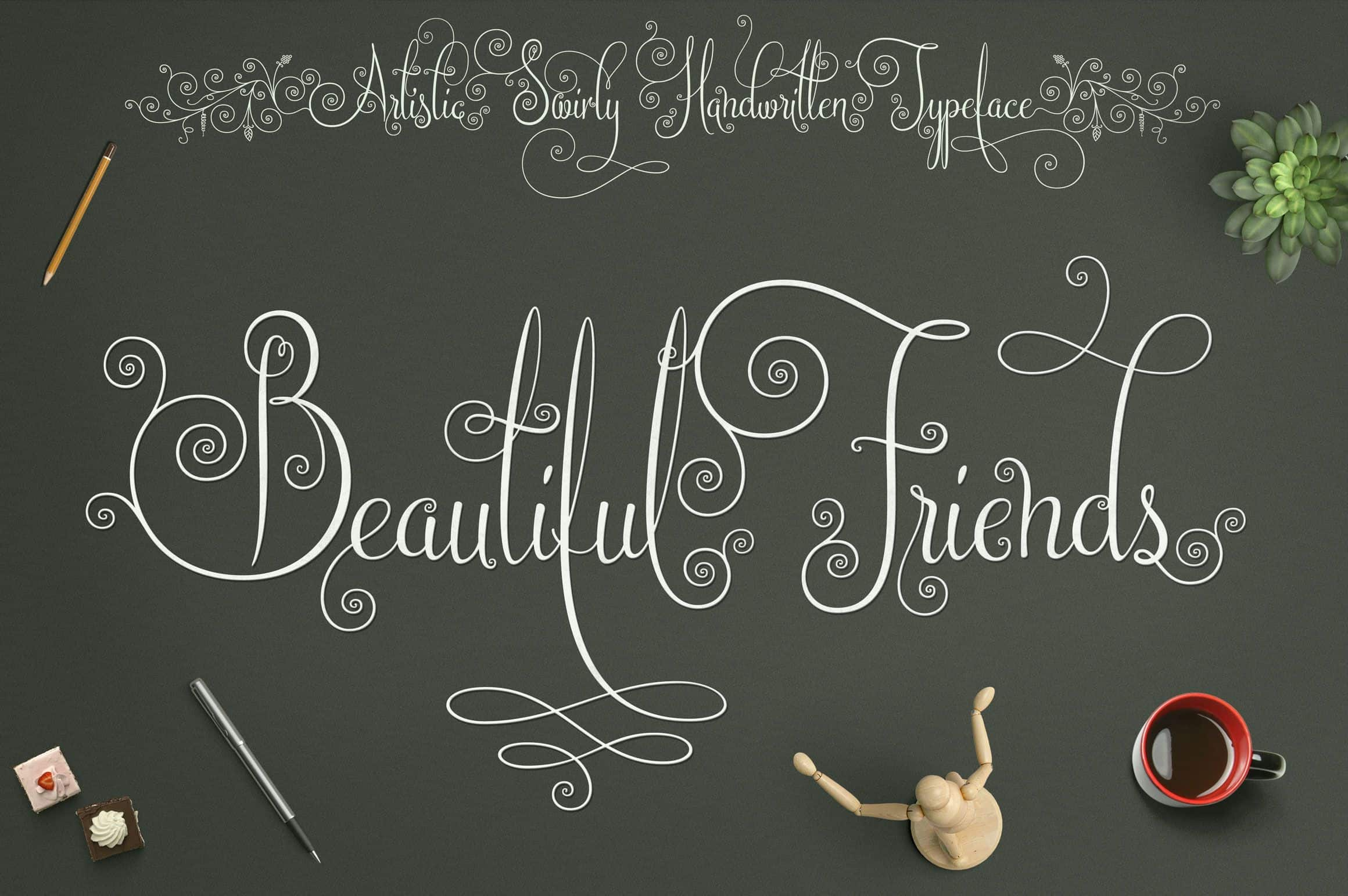 Download Beautiful Friends font (typeface)