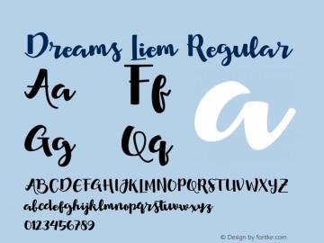 Download Dreams Liem font (typeface)