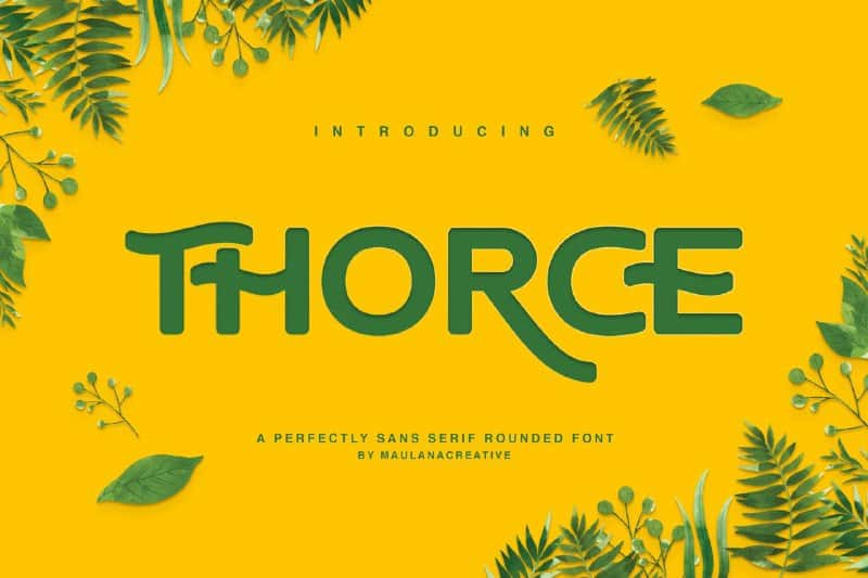 Download Thorce font (typeface)
