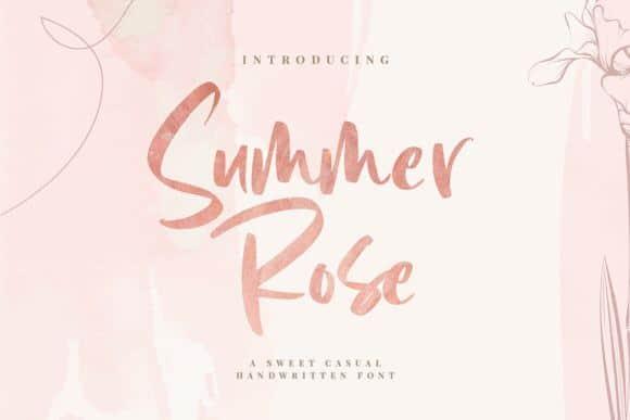 Download Summer Rose font (typeface)