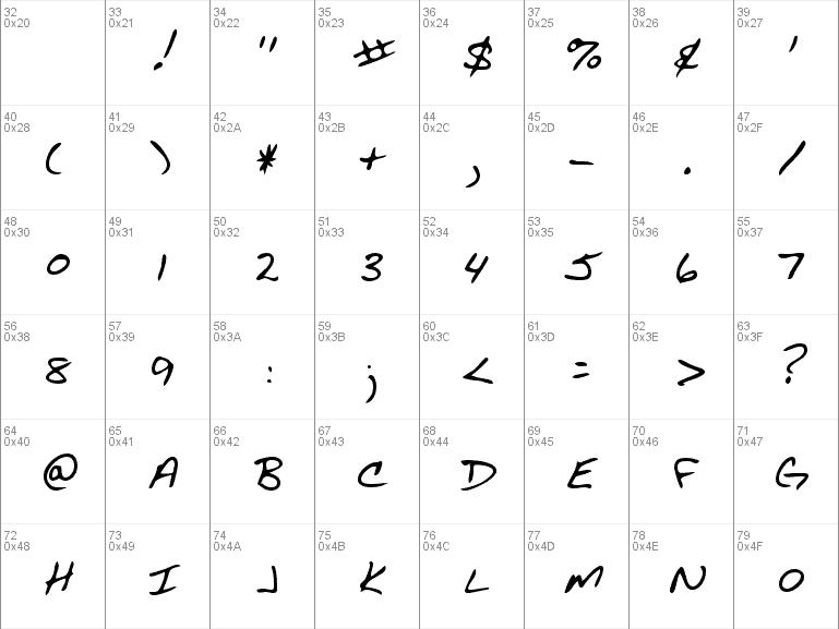 Download AcaciasHand-Regular font (typeface)
