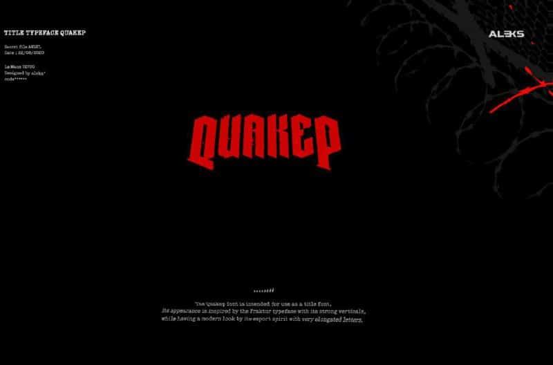 Download Quaker font (typeface)