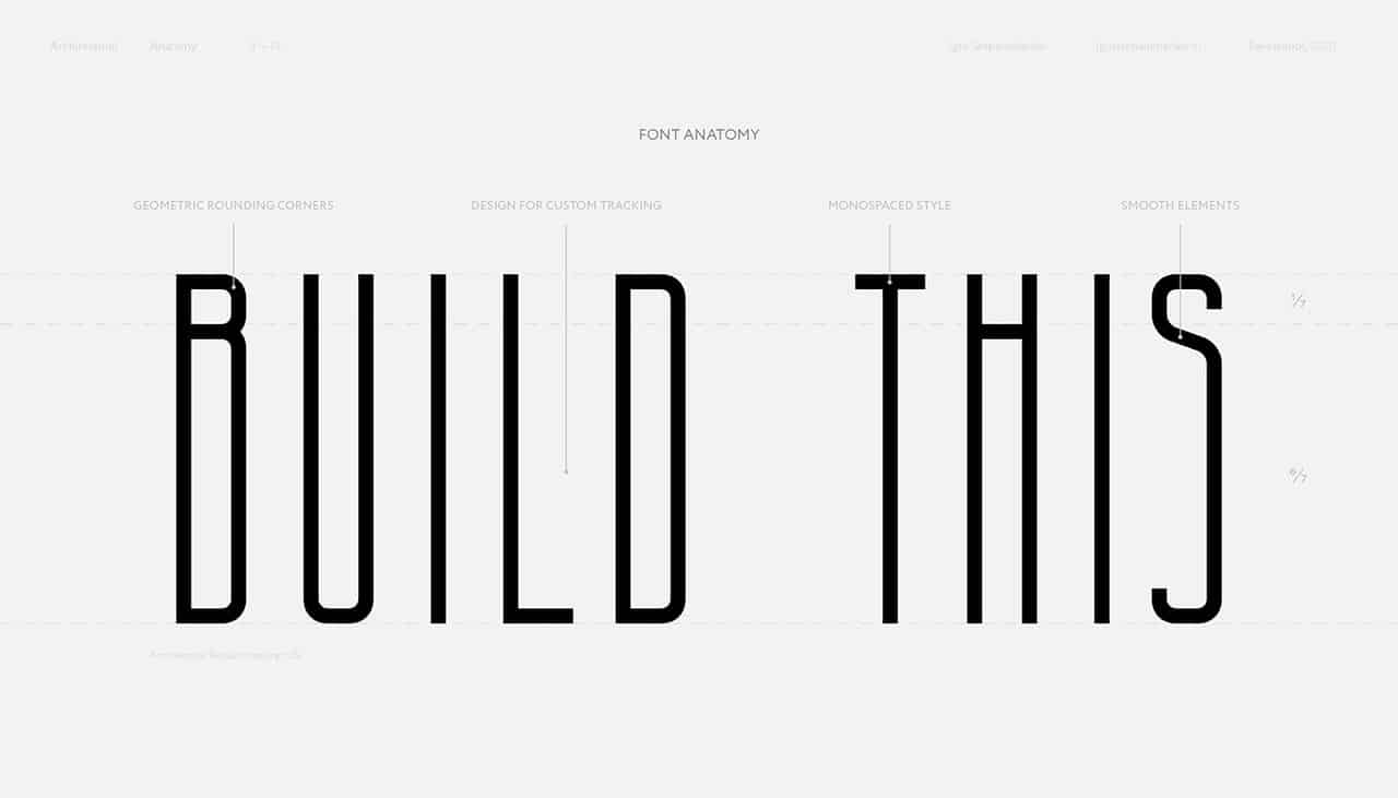 Download Architectural font (typeface)