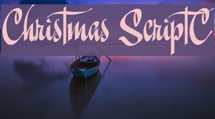 Download Christmas ScriptC font (typeface)