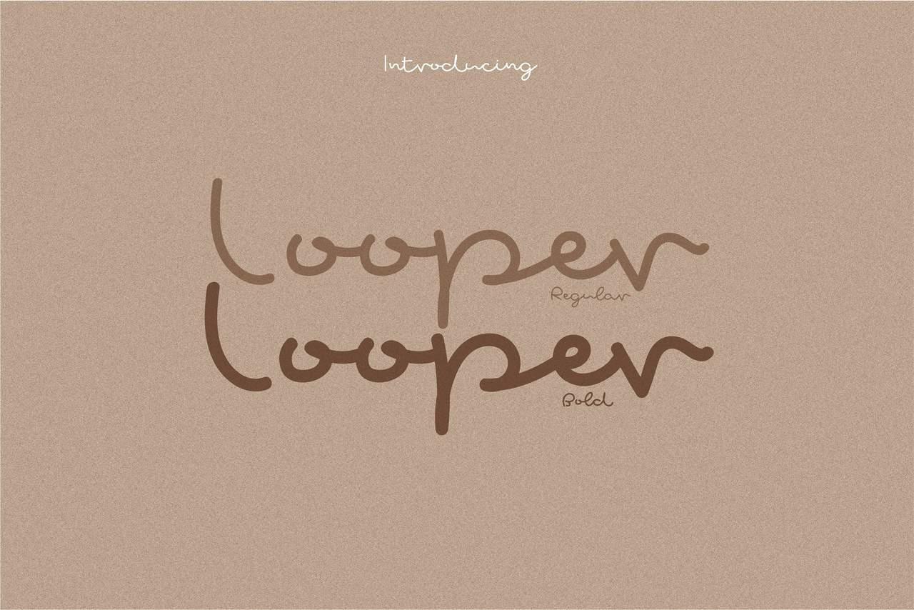 Download Looper font (typeface)