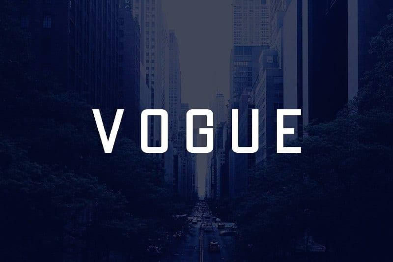Download Vogue font (typeface)