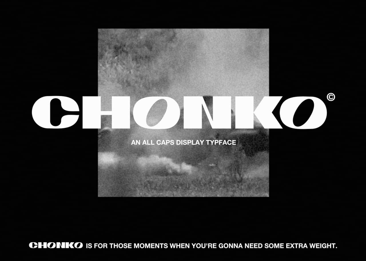 Download CHONKO font (typeface)