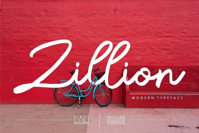 Download Zillion font (typeface)