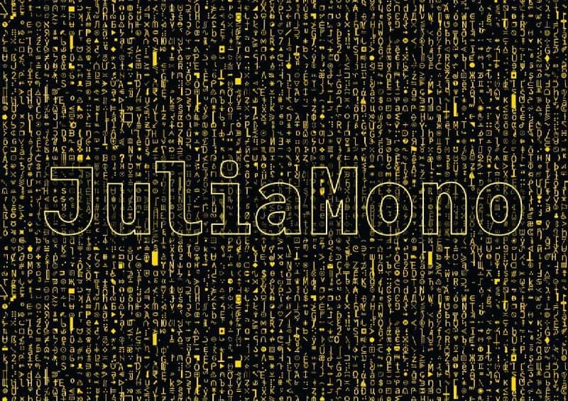 Download JuliaMono font (typeface)