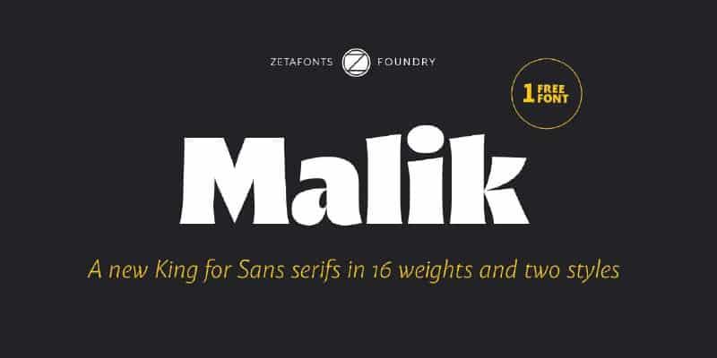 Download Malik font (typeface)